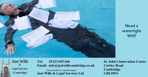 Watertight Will Just Wills & Legal Services Cambridge FB